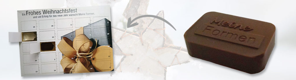 Adventskalender in Ihrem Wunschdesign und mit individuellen Schokoladenmotiven