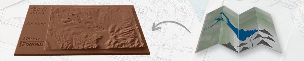 Schokoladenformen für Geoschokolade